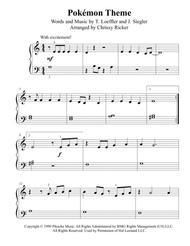 Pokémon Theme - beginner/big note piano
