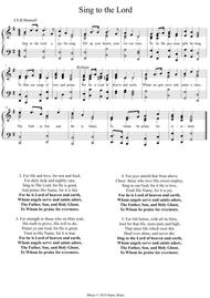 Sing to the Lord a joyful song. A new tune to a wonderful old hymn.
