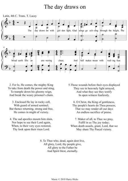 The day draws on. A new new tune to a wonderful old hymn.