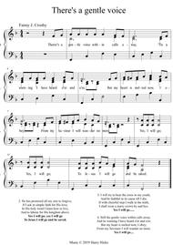 There's a gentle voice within. A new tune to a wonderful Fanny Crosby hymn.