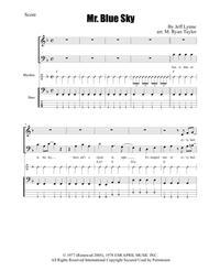 Mr. Blue Sky for SAB Choir and Rhythm / Bass Section