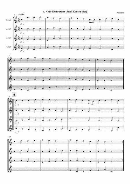 Old dances - Volume 1 - Alto Saxophone Quartet