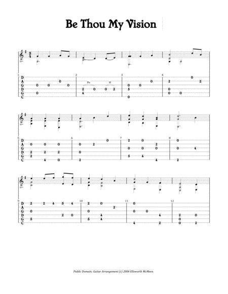 Be Thou My Vision (For Fingerstyle Guitar Tuned CGDGAD)