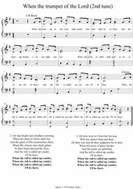 When the trumpet of the Lord (2nd tune). A new tune to a wonderful old hymn.