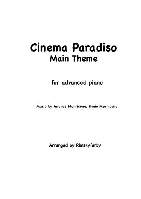 Cinema Paradiso (Main Theme) for advanced piano