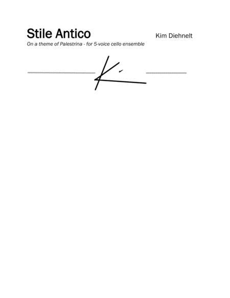 Diehnelt: Stile Antico for 5-voice cello ensemble