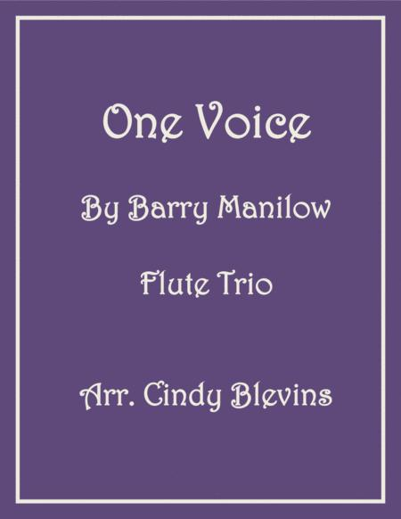 One Voice, for Flute Trio