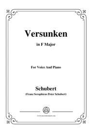 Schubert-Versunken,in F Major,for Voice&Piano