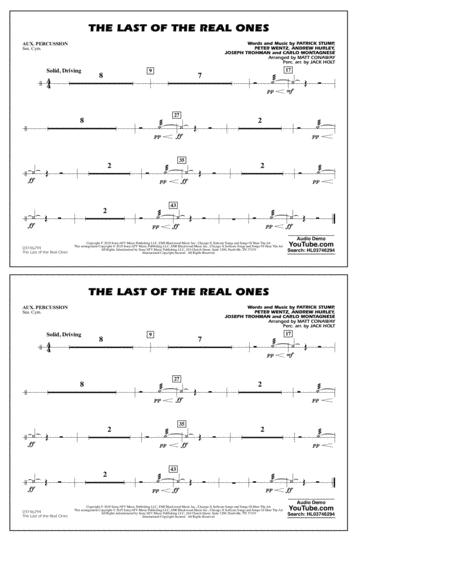 Last of the Real Ones (arr. Matt Conaway) - Aux Percussion