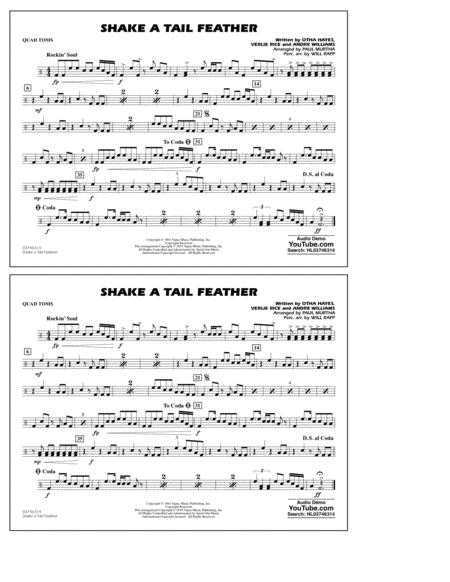 Shake a Tail Feather (arr. Paul Murtha) - Quad Toms