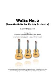 Waltz No. 2 for Intermediate Guitar Trio