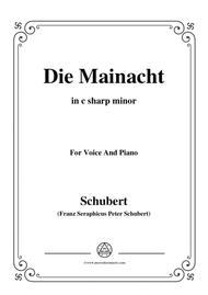 Schubert-Die Mainacht,in c sharp minor,for Voice&Piano