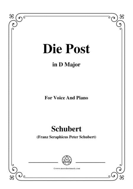 Schubert-Die Post,from 'Winterreise',Op.89(D.911) No.13,in D Major,for Voice&Piano