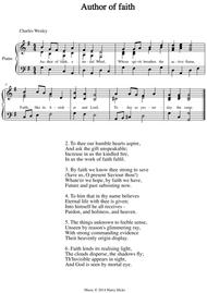 Author of faith. A new tune to a wonderful Charles Wesley hymn.