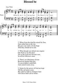 Blessed be the everlasting God. A new tune to a wonderful Isaac Watts hymn.