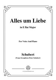 Schubert-Alles um Liebe,in E flat Major,for Voice&Piano