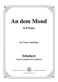Schubert-An den Mond(To The Moon),D.468,in B Major,for Voice&Piano