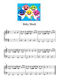 Baby Shark By Digital Sheet Music For Piano Solo Download