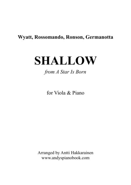 Shallow (from A Star Is Born) - Viola & Piano