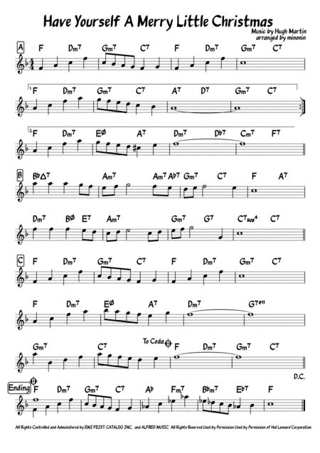 Have Yourself A Merry Little Christmas  lead sheet