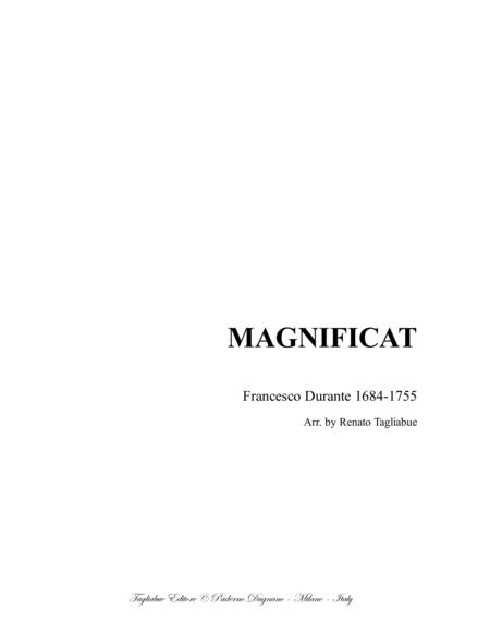 MAGNIFICAT - F. Durante - For SATB Choir and Organ - With parts
