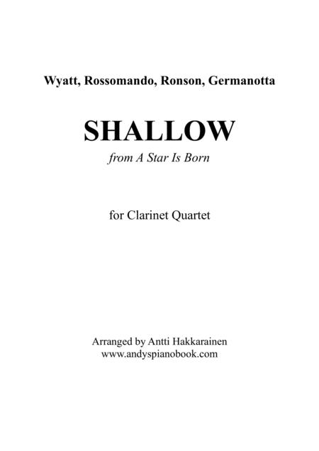 Shallow (from A Star Is Born) - Clarinet Quartet