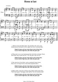 Home at last. A new tune to a wonderful old hymn.