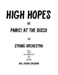 High Hopes by Panic! at the Disco for String Quintet (Orchestra)