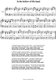 In the hollow of His hand. A new tune to a wonderful old hymn.