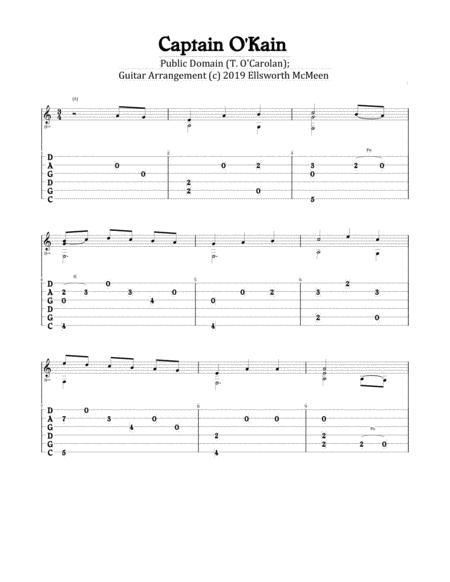 Captain O'Kain (For Fingerstyle Guitar Tuned CGDGAD)