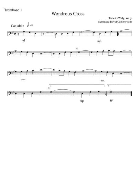 trombone trio: wondrous cross - tune o waly waly arranged by david  catherwood by folk song - digital sheet music for set of parts - download &  print s0.533893 | sheet music plus  sheet music plus