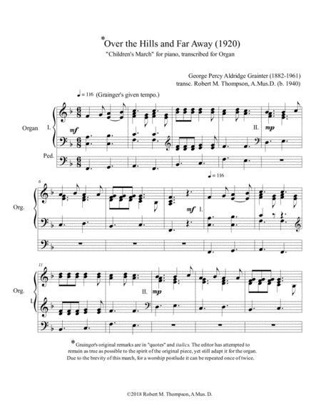 Children's March folk song arranged by Percy Grainger