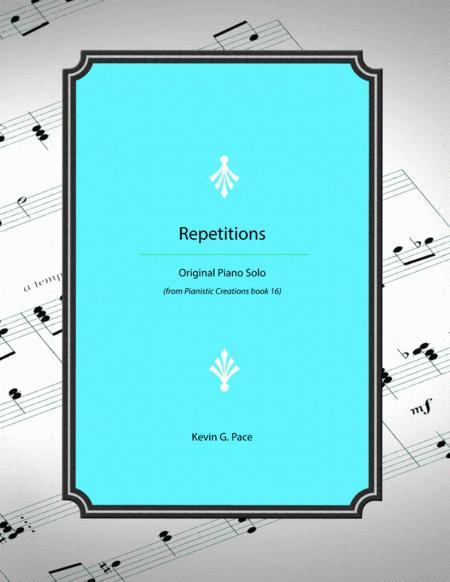 Repetitions - advanced piano solo