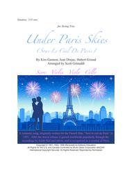 Under Paris Skies (Sous Le Ciel De Paris) - for String Trio