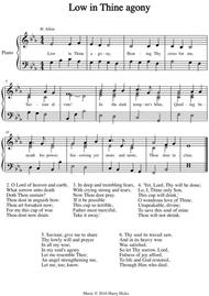 Low in Thine agony. A new tune to a wonderful old hymn.