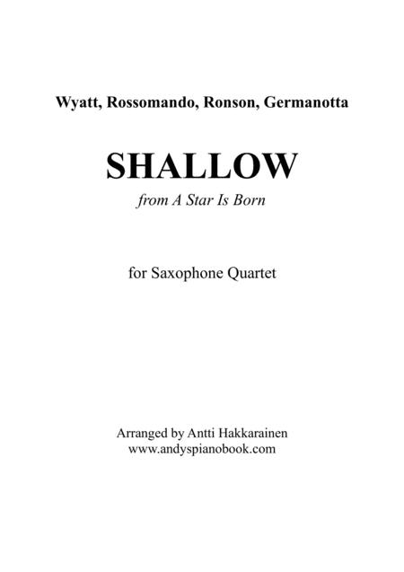 Shallow (from A Star Is Born) - Saxophone Quartet