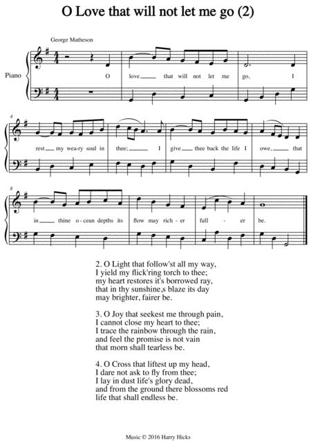 O love that will not let me go. Another new tune to a wonderful old hymn.