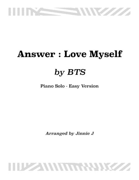 Answer : Love Myself for Piano (Easy version)