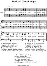 The Lord Jehovah reigns. A new tune to a wonderful Isaac Watts hymn.