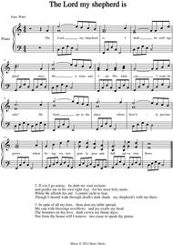 The Lord my Shepherd is. A new tune to a wonderful Isaac Watts hymn.