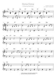 Dona Dona / easy piano