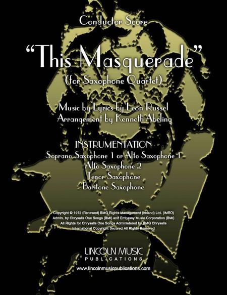 This Masquerade (for Saxophone Quartet SATB or AATB)