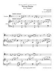 Nessun Dorma - Trombone and Piano
