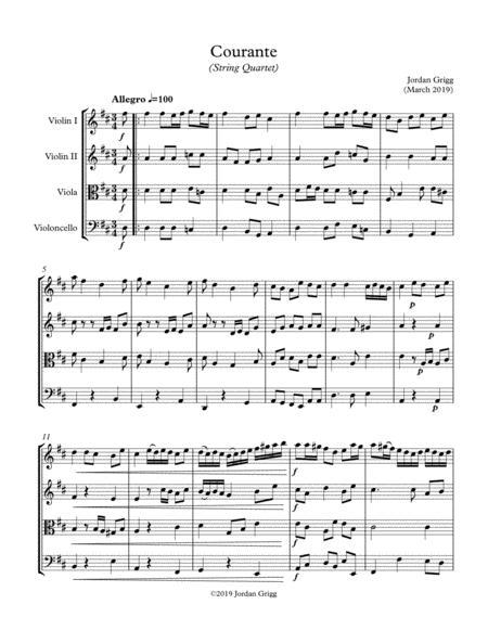 Courante (String Quartet)
