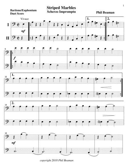 Striped Marbles-Scherzo Impromptu-Baritone/Euphonium Duet