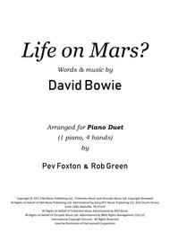 Life On Mars  Piano Duet (4 hands, 1 piano)