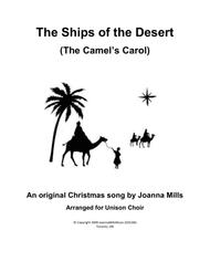 The Ships of the Desert (The Camels' Carol) Unison Choir