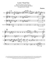 Lord, I Need You - Passion (String Quartet)