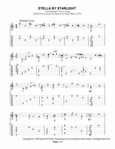 Stella By Starlight (DADGAD Fingerstyle Guitar)