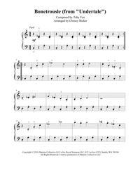 Bonetrousle (from Undertale) - easy piano